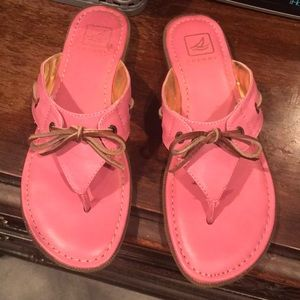 Sperry Topsider pink sandals